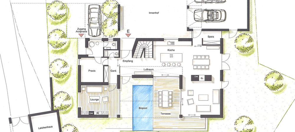 Atriumhaus Entwurf EG