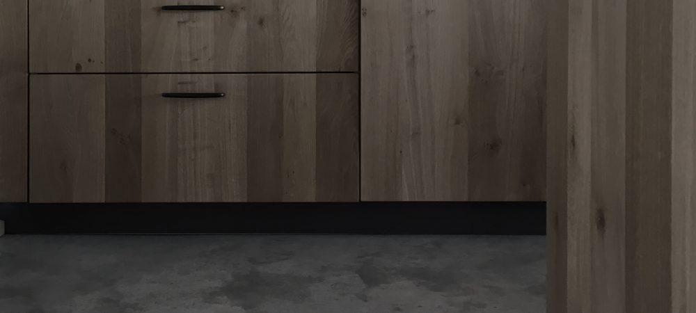 Küche mit Sichtestrich