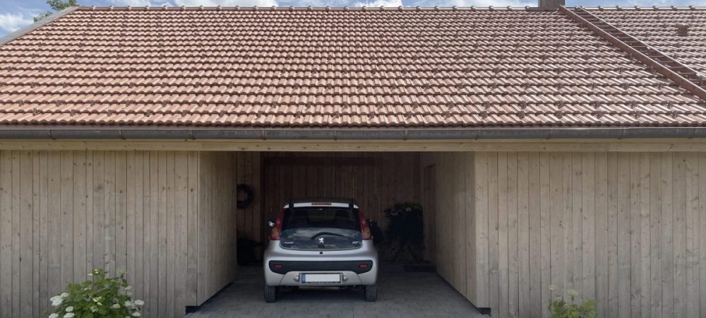 Holzhaus Architektur Garage